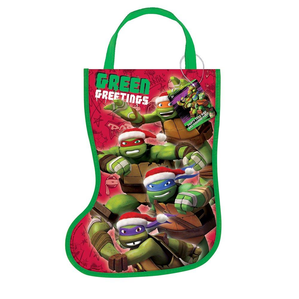 Amazon.com: Plastic Teenage Mutant Ninja Turtles Christmas Stocking ...