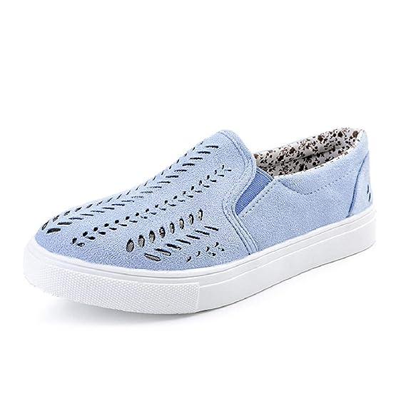 Yesmile Zapatos de mujer❤️Las Mujeres de Las Mujeres Ahuecan los Zapatos Plataforma Redonda del Dedo del pie Deslizamiento Plano del talón en los Zapatos ...