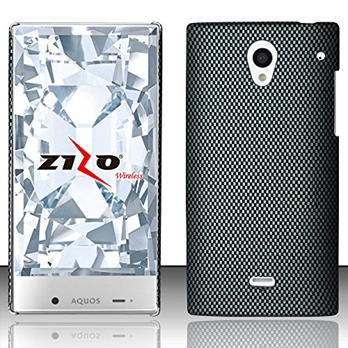 LF 3 in 1 Bundle - Designer Hard Case Cover, Lf Stylus Pen & Droid Wiper Accessory for (Sprint) Sharp Aquos Crystal (Design Carbon Fiber) (Sharp Aquos Crystal Keyboard compare prices)