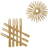 200 Mini Wooden Cocktail Fork Sticks, 3.5 Inch Bamboo Skewers.Splinter-Free Toothpicks.Includes 200 Bamboo Two Prong Sharp Fork Sticks. Perfect For Parties, Buffets, Food Tastings And Much More.