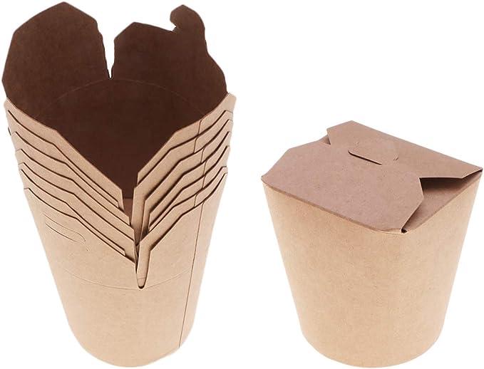 Cajas de Papel Kraft de 50 onzas, 16 Kg. Contenedores Desechables de Comida preparada Paquete de Alimentos Cajas para Decorar Fiestas: Amazon.es: Hogar