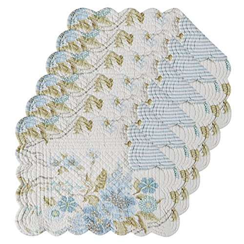 Jesamine 13x19 Quilted Rectangular Placemat Set of 6