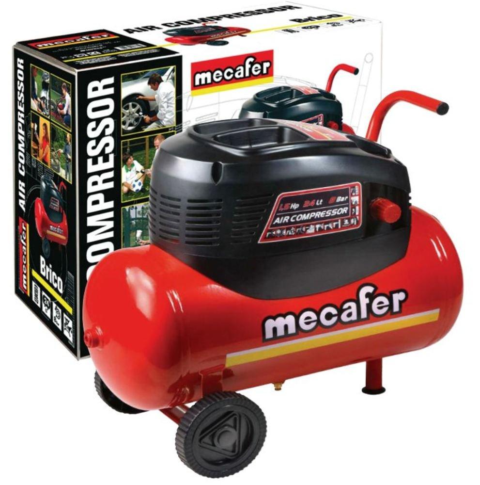 Mecafer 425068 - Compresor de aire (1100 vatios) color Rojo: Amazon.es: Bricolaje y herramientas