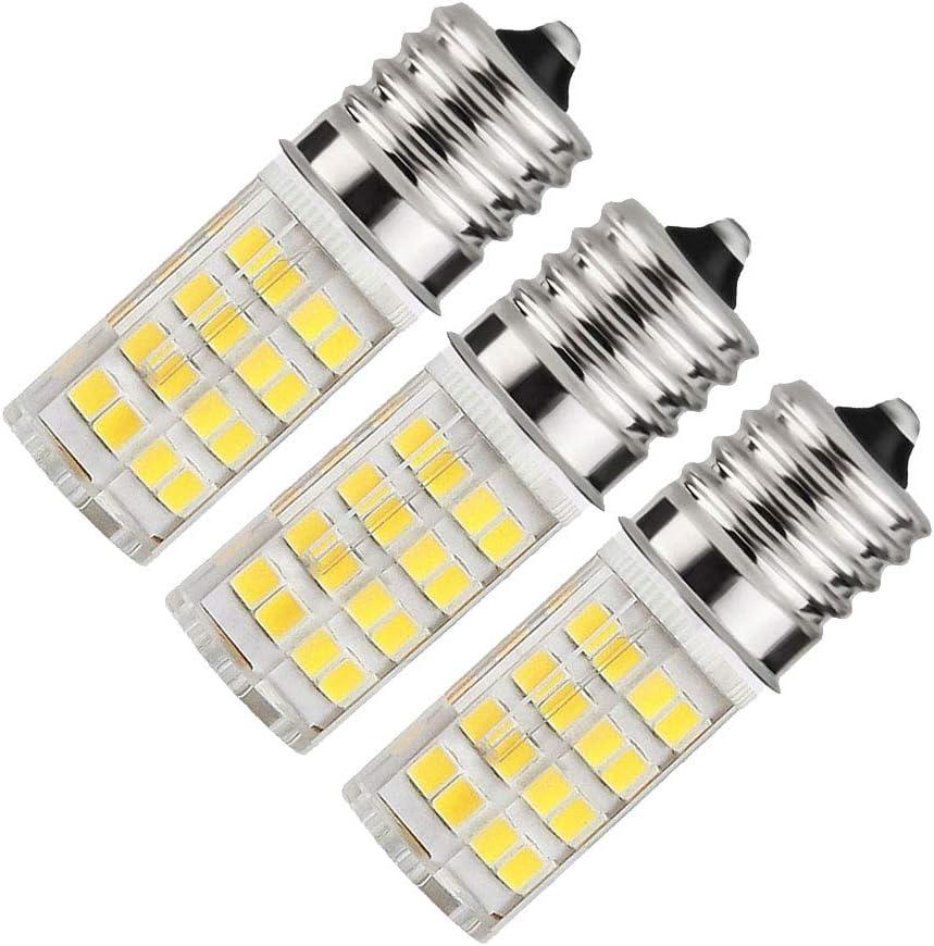 40W Incandescent Equivalent E17 Light Bulb Dimmable GE - Microwave Oven Stove Light T7 E17 Intermediate Base Bulb Appliance Bulb   AC 110V-130V 3-Pack (Daylight White)