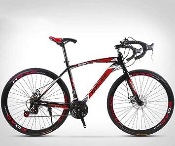 MJY Bicicleta de carretera de 26 pulgadas, bicicletas de 24 velocidades, freno de doble disco, cuadro de acero de alto carbono, carreras de bicicletas de carretera, hombres y mujeres, solo para adult: