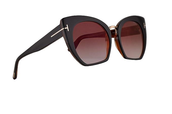 fd037e10e08 Image Unavailable. Image not available for. Colour  Tom Ford FT0553 Samantha -02 Sunglasses Black w Bordeaux Gradient ...