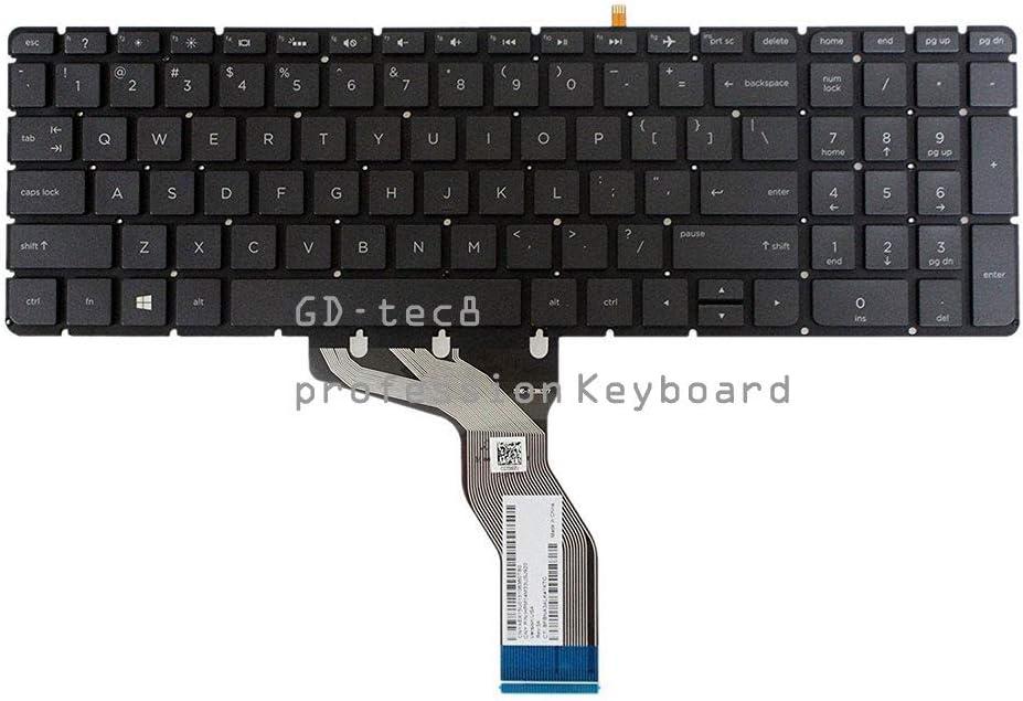 Laptop Keyboard Compatible for HP Envy 17-s013ca 17-s030nr 17-s033cl 17-s041nr 17-s110nr 17-s112nr 17-s113ca 17-s143cl US Black Backlit Light Backlight No Frame