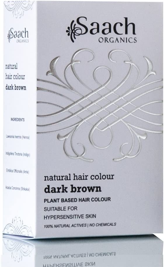 Saach Organics - Tinte de pelo natural (marrón oscuro)