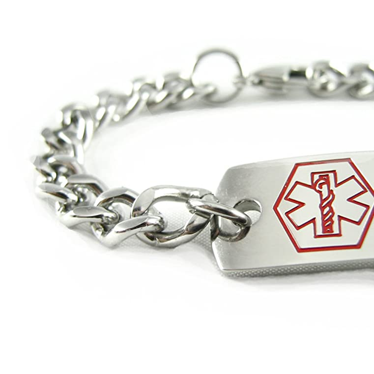 medical detail bracelet alert buy personal product custom id hemophilia