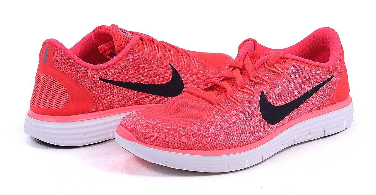e9d159e8bc89 Amazon.com  Nike Womens Free RN Distance - Bright Crimson Black-Hyper  Orange-White - 6.0  Shoes