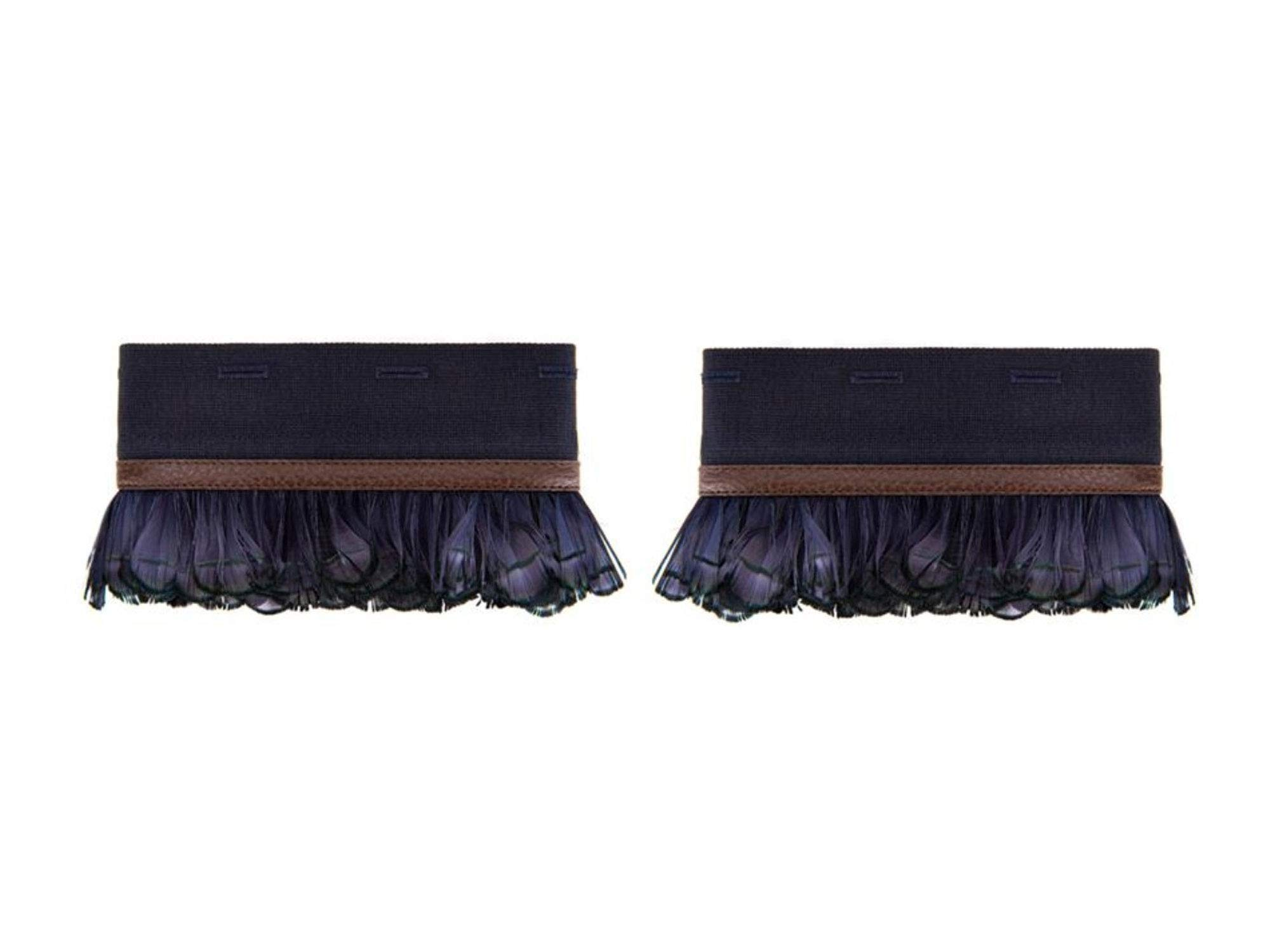 'S Max Mara Women's Harlem Pheasant Feather Cuffs One Size Navy Blue
