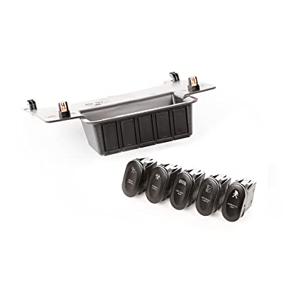 Rugged Ridge 17235.73 Etched Lower 5 Switch Panel Kit (11-18 Jeep Wrangler JK): Automotive