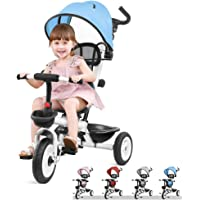 Macaw 4-in-1 Toddler Tricycle with Adjustable Push Handle