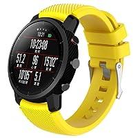 Malloom Reemplazo suave Silicagel deportes reloj banda correa para HUAMI Amazfit Stratos 2 Smart Watch