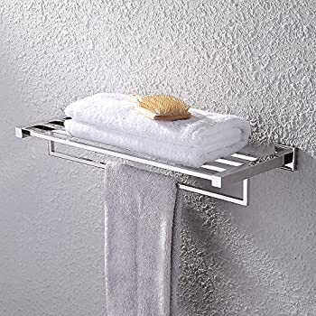 KES Towel Rack, Bathroom Shelf With Towel Bar (Polished 24 Inch Stainless  Steel)