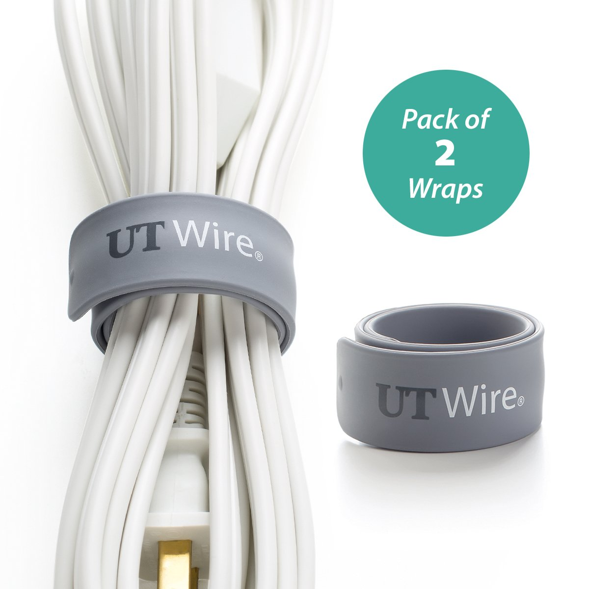 Amazon.com: UT Wire UTW-SWM2-GY Speedy Magnetic Cable Wrap (Pack of ...