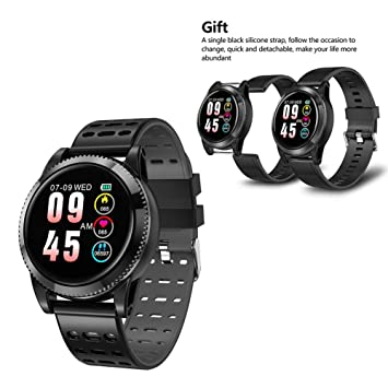 Montre Intelligente, Bluetooth Montre Connectée Smart Watch, Montre-Bracelet pour iPhone iOS et