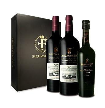MARQUES DE GRIÑON - Estuche De 2 Botellas de Vino tinto Syrah 2014 y 1 Botella de AOVE Olevm Artis