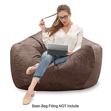 Stupendous Mftek Bean Bag Chair Cover Only Large Washable Memory Foam Furniture Bean Bag Replacement Cover With Wash Bag Without Bean Filling Ocoug Best Dining Table And Chair Ideas Images Ocougorg