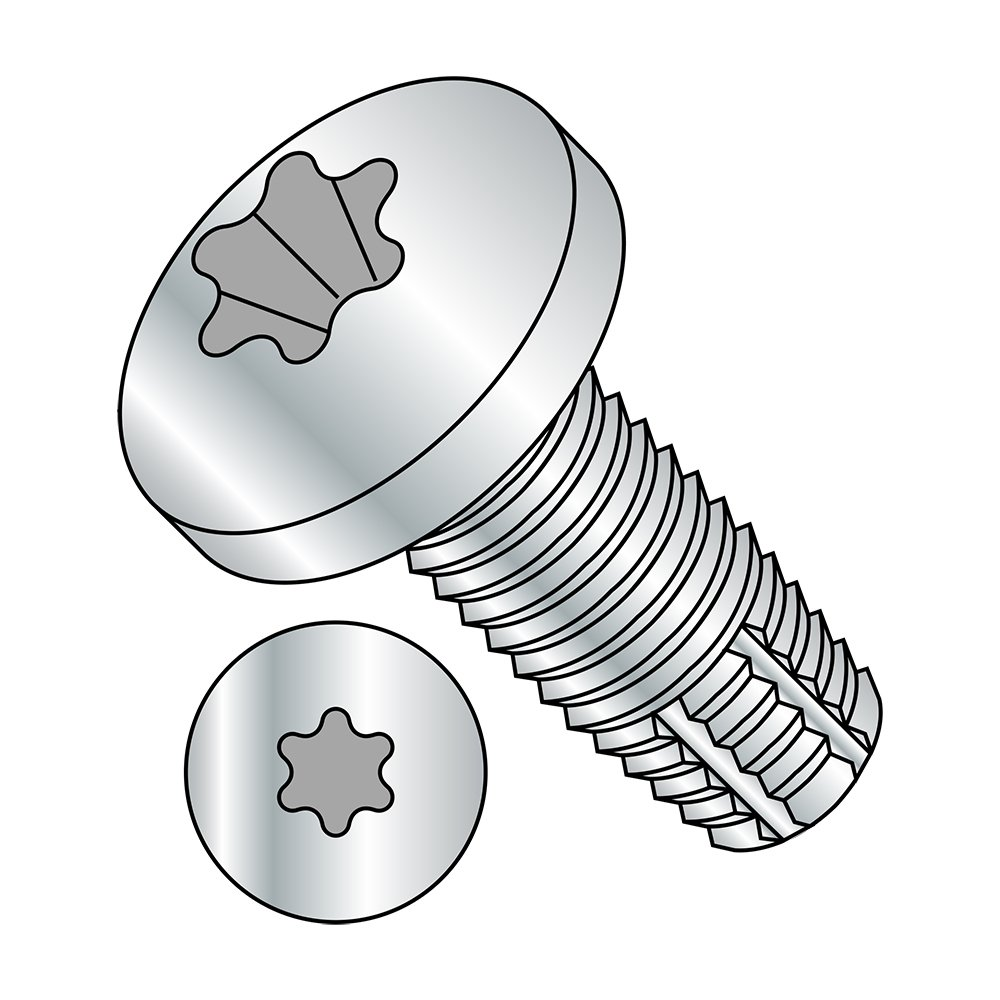 Pan Head Star Drive Pack of 5 Pack of 5 Type F Steel Thread Cutting Screw 3//8-16 Thread Size Zinc Plated Finish Small Parts 3716FTP 1 Length 3//8-16 Thread Size 1 Length