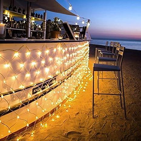 Amazon ollny led fairy string decorative net lights net mesh ollny led fairy string decorative net lights net mesh tree wrap lights low voltage for workwithnaturefo