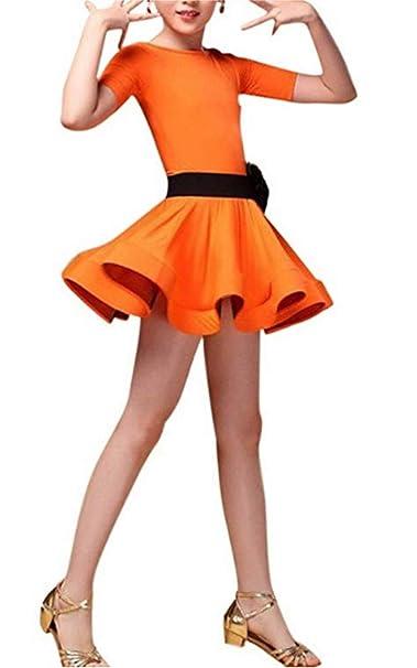 inlzdz Vestido de Flamenca para Niña Traje de Danza Latina ...