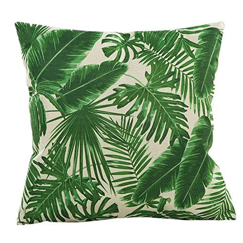 Pillow Slip,Meyerlbam Flowers Grass Pattern Pillow Sham Sofa Waist Throw Cushion Cover (S, G)