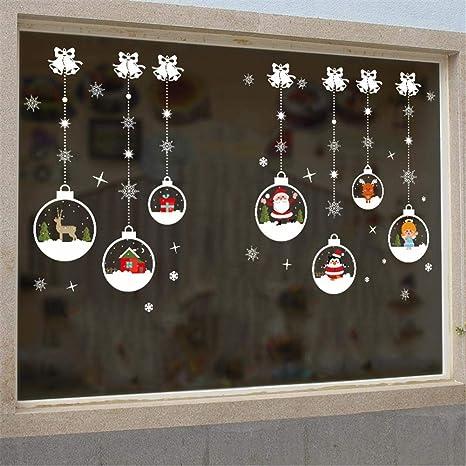 Globalqi Etiqueta de la Pared de Navidad Bola de Cristal Que cuelga la Cadena Mas Patrones