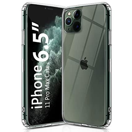 OULUOQI Compatible with iPhone 11 Pro Max Case 2019, Shockproof Clear Case  with Hard PC Shield+Soft TPU Bumper Cover Case for iPhone 11 Pro Max 6.5