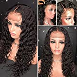 Meizi Hair 8A Lace Front Wigs Brazilian Human Hair for Black Women Glueless Full Lace Wigs 130%-180% Density Lace Front Wigs with Baby Hair (20inch with 150% density, Lace Front Wig)