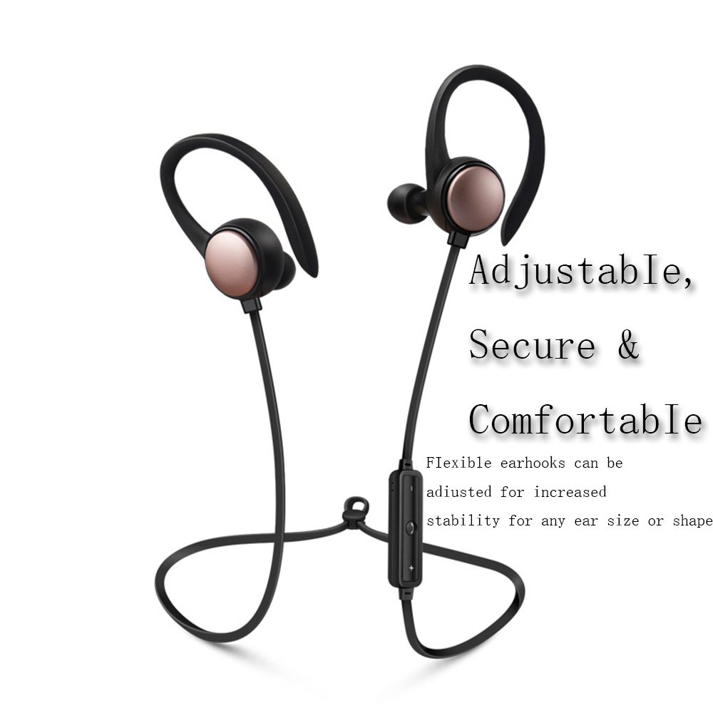 Bluetooth Wireless Sports Headphones, the Best Wireless Headphones for Sports and Fitness,Noise Cancelling Headphones Wireless Headphones for Running Jogging Cycling Sports HD Sound Safety