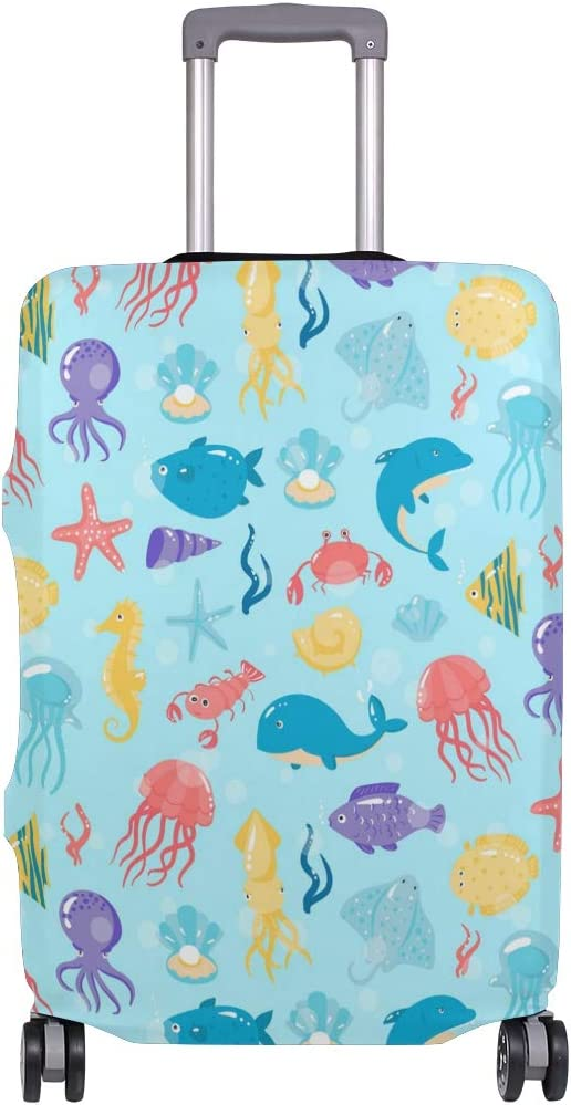 GIOVANIOR Ea Underwater Animals Luggage Cover Suitcase Protector Carry On Covers