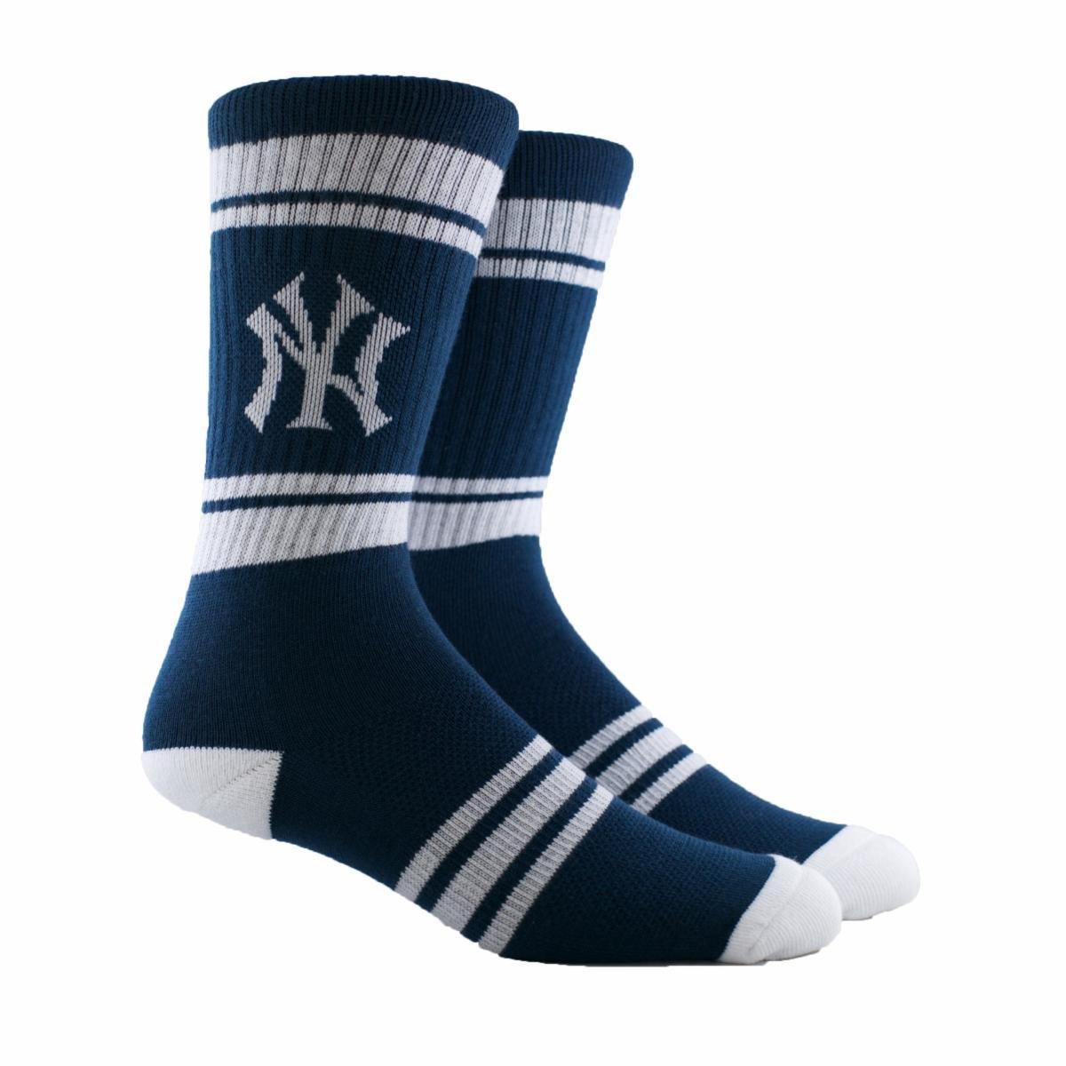 PKWY MLB Stripe Crew Socks by Stance Boston) Mookie Betts