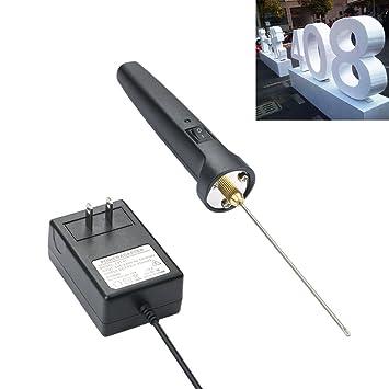 Pluma de corte eléctrica de espuma de poliestireno extruido de 10 cm con adaptador de transformador, herramienta grabadora: Amazon.es: Hogar