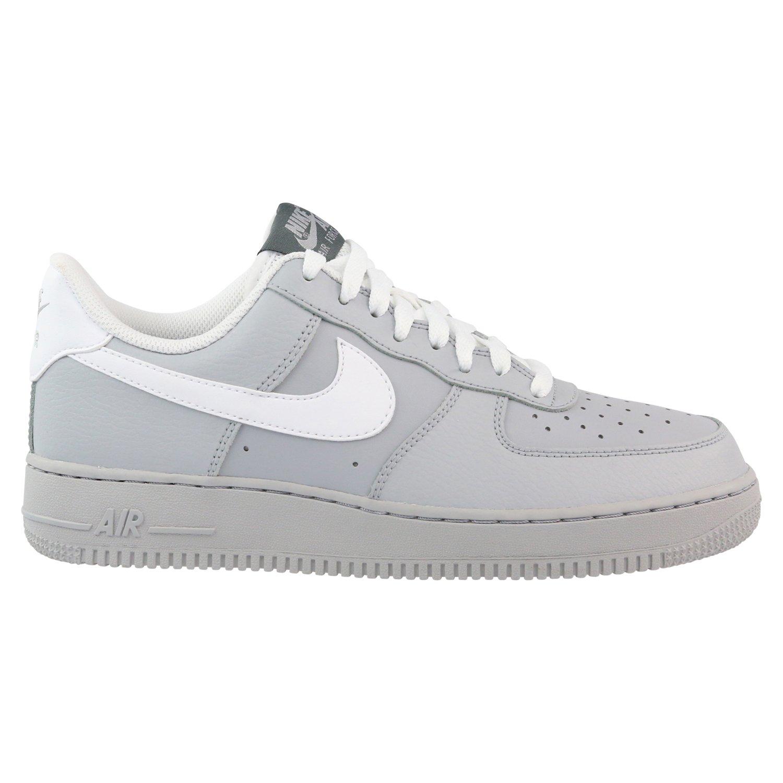 premium selection 70c7c dd283 Galleon - Nike Mens Air Force Low 1 Basketball Shoe Wolf Grey Dark Grey Game  Royal White 8.5