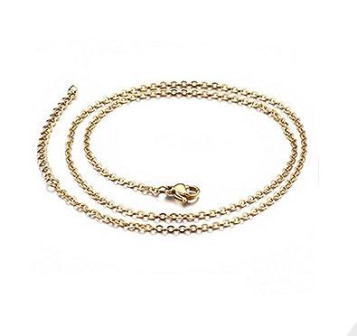 Epinki Acero Inoxidable 1.5MM Cadena Collar para Hombre Oro ...