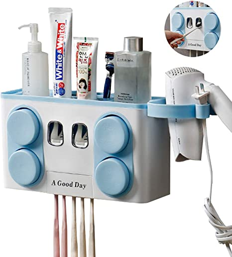 Bathroom Accessories Set Tooth Brush Holder Automatic Toothpaste Dispenser DR