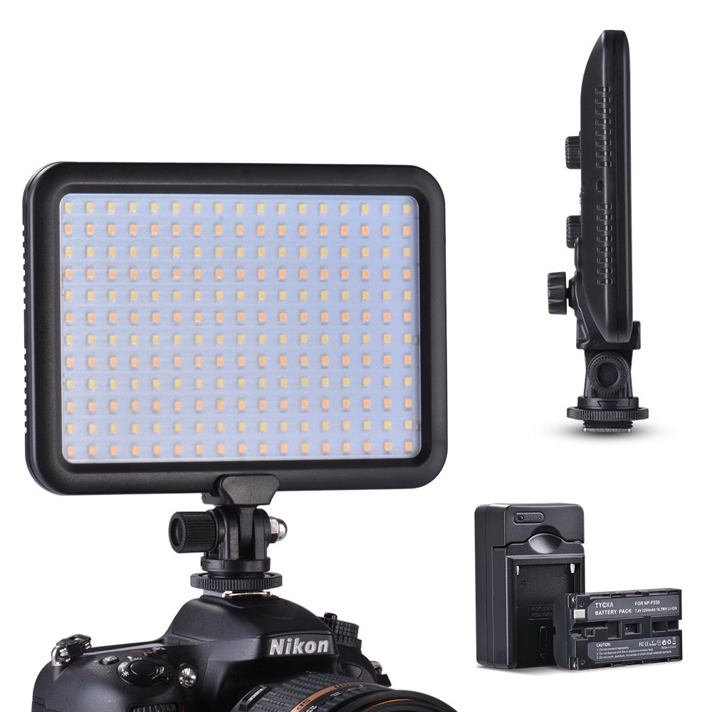 Panel de luz LED Regulable Luz de Vídeo, 3200K - 5600K Temperatura de Color