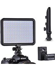TYCKA 204 Panel de luz LED Regulable Luz de Vídeo, 3200K - 5600K Temperatura de Color, Regulable Continuo de 1300lm, Ultra Fino y Ligero, para cámara videocámara DSLR Canon Nikon Sony