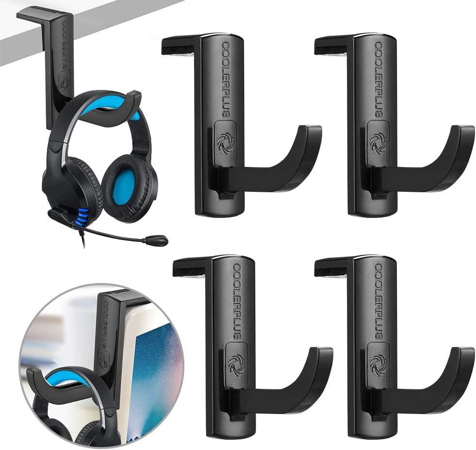 Image of headphone hook holder in black color.