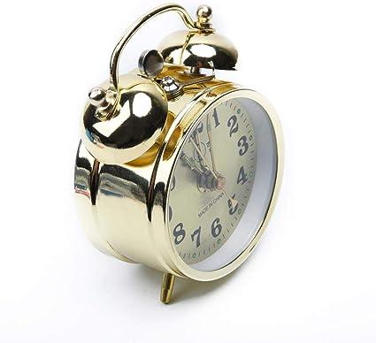 JYYA Remonter Mécanique Réveil Double Cloche Horloge De