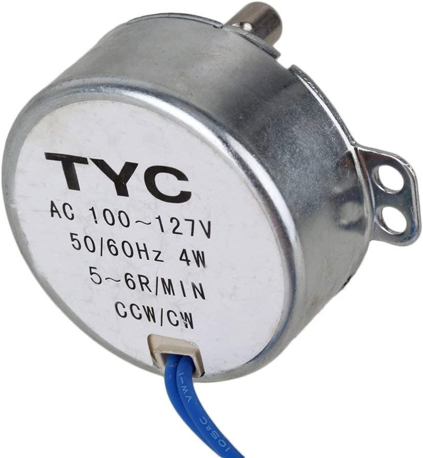 Afordable TYC-50 5-6 RPM AC110V CW//CCW Synchronous Electric Motor with 7mm Shaft Dia