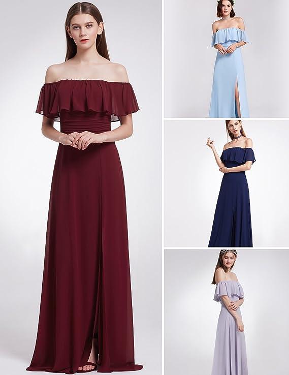 65bd9d32d8 Ever-Pretty Womens Elegant Sleeveless Floor Length Ruffles Chiffon Bridesmaids  Dress 07201 at Amazon Women s Clothing store
