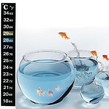 Wodwad Stick On Aquarium Fish Tank Glass Greenhouse Thermometer Temperature Gauge Sticker