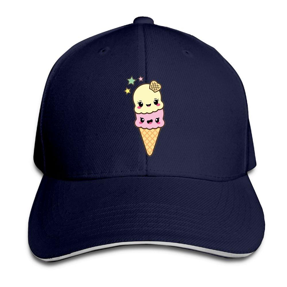 FOOOKL Cute Ice Cream Cap Unisex Low Profile Cotton Hat Baseball Caps Natural