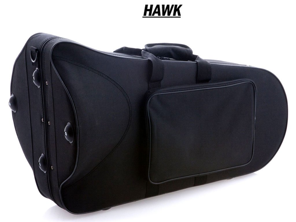 Hawk WD-BT511 Lacquer Baritone Horn with Case and Mouthpiece, Brass by Hawk