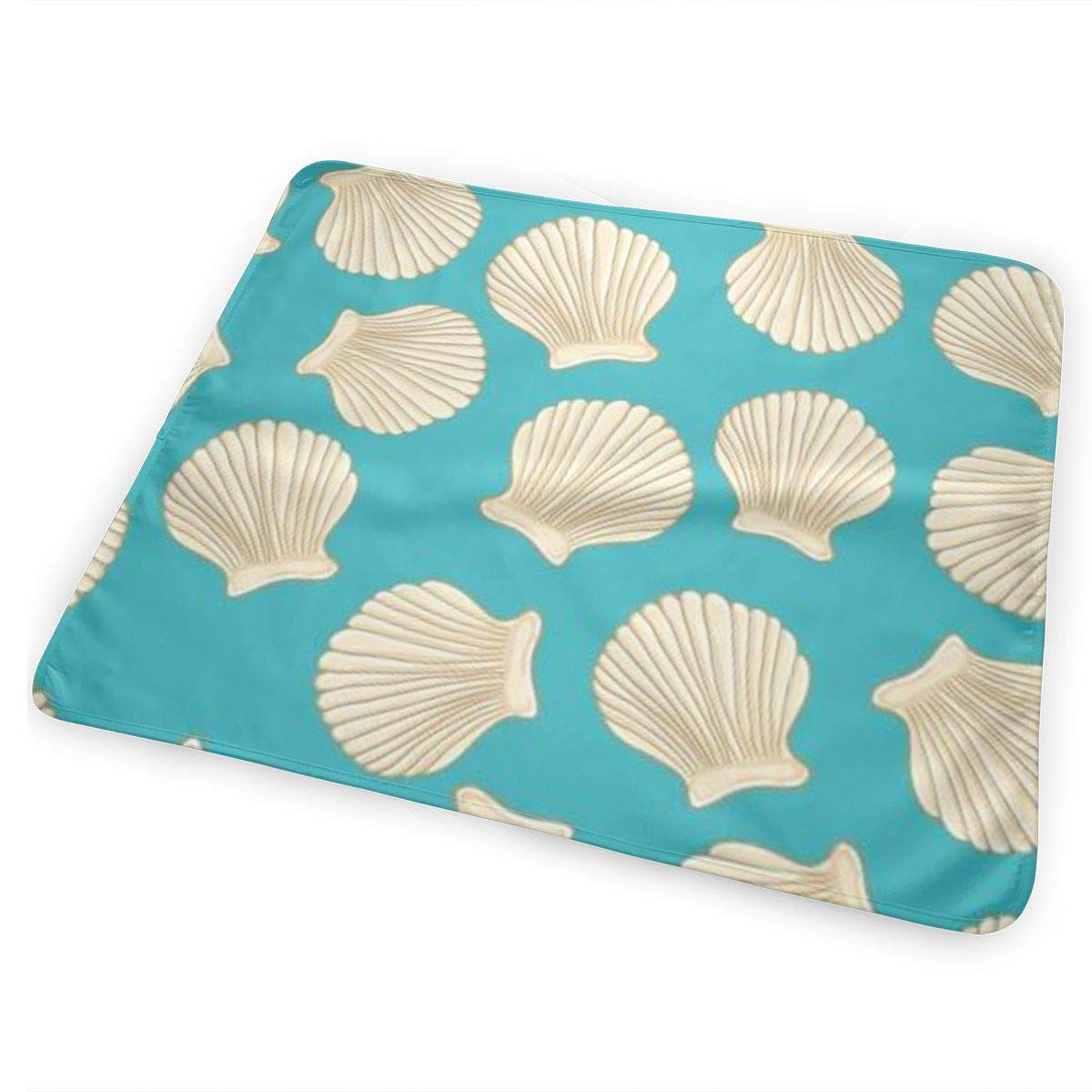 MatthewConnersw Baby Ocean Sea Aquatic World Beach Shells Starfish Changing Pad Large Changing Mat Gift