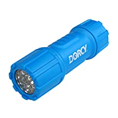 Dorcy 41-4240 Weather Resistant LED Flashlight with Lanyard, 27-Lumens, Assorted Colors
