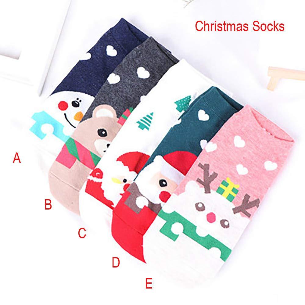 BHYDRY Mujeres adultas hombres amor lindo santa claus elk muñeco de nieve calcetines de navidad: Amazon.es: Ropa y accesorios