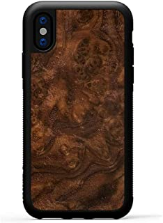 product image for Carved - iPhone Xs - Luxury Protective Traveler Case - Unique Real Wooden Phone Cover - Rubber Bumper - Walnut Burl